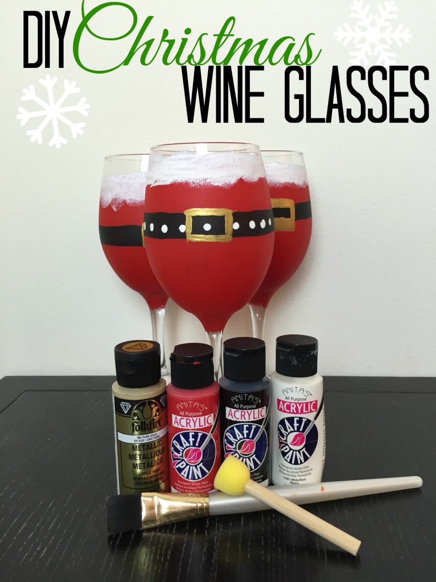 Christmas DIY * Santa Wine Glass